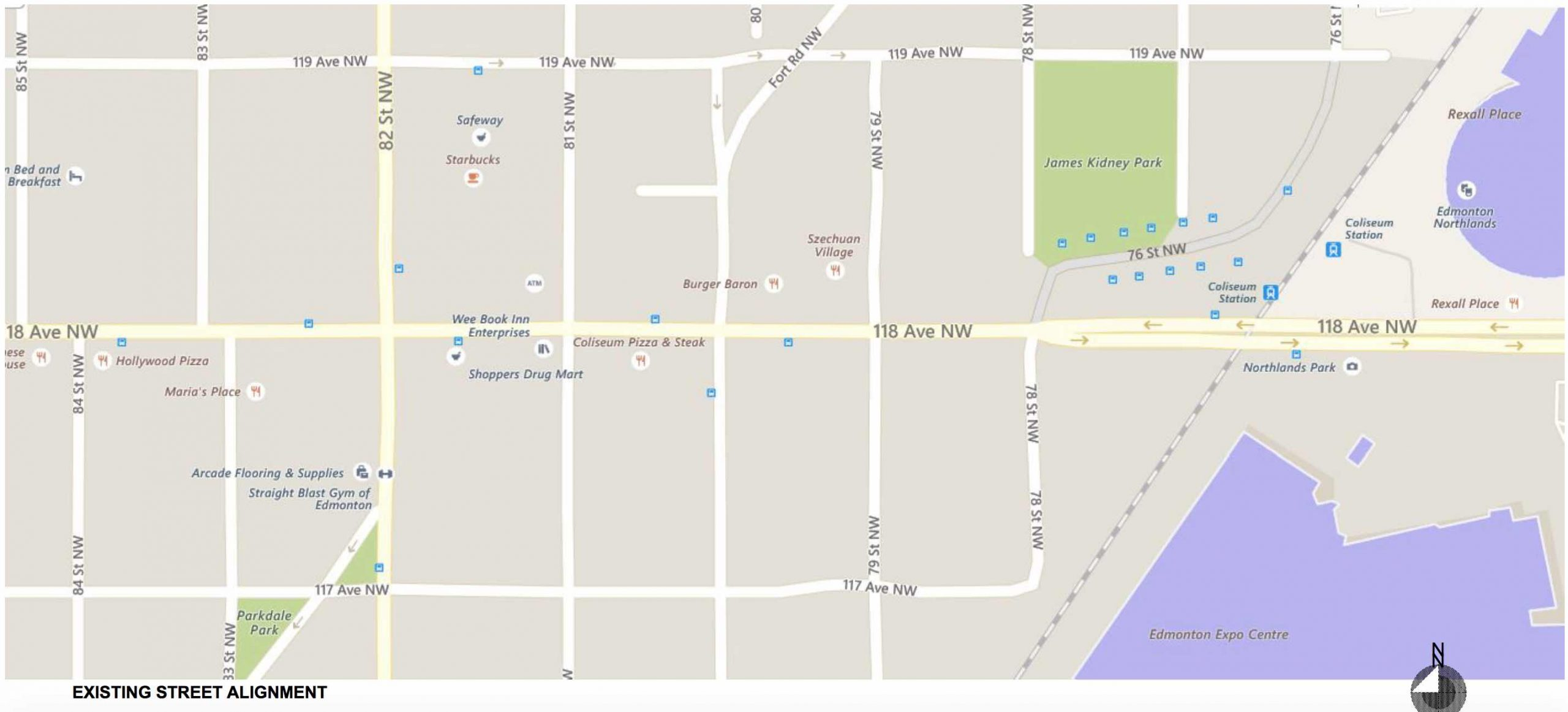 Map 1existing street
